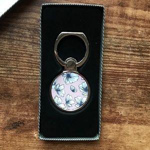 Poppy Floral Popsocket Ring Phone Holder